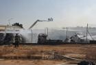 """اندلاع حريقين في المجلس الإقليمي """"شاعر هنيغيف"""" مقابل غزة"""