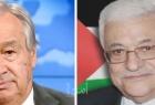 الرئيس عباس يهنئ غوتيريش بإعادة انتخابه أمينا عاما للأمم المتحدة لفترة ثانية