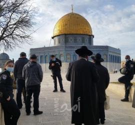 القدس: 45 مستوطنا يقتحمون باحات المسجد الأقصى