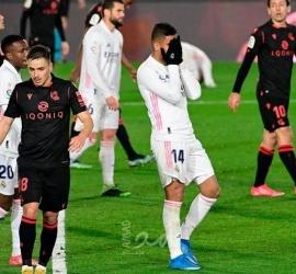 شاهد .. ريال مدريد يتعثر في عقر داره أمام ريال سوسيداد