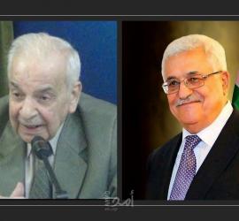عباس ينعى المناضل والقائد الوطني الكبير محمود الخالدي