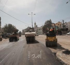 بلدية غزة تنجز أعمال صيانة بشارع صلاح الدين بحي الزيتون- صور