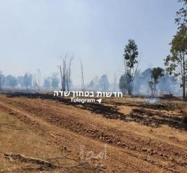 محدث- اندلاع عدة حرائق في البلدات الإسرائيلية المحاذية لقطاع غزة بفعل البالونات - فيديو