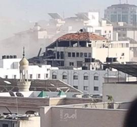 شه-يدان و10 إصابات في القصف الأخير في منطقة عيادة الرمال بغزة - صور
