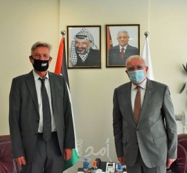 المالكي يودع ممثل ألمانيا لدى فلسطين بمناسبة انتهاء مهامه