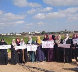 """غزة: """"كتلة نضال المرأة"""" تنظم يوم تطوعى مع الخريجات فى مجال الزراعة"""