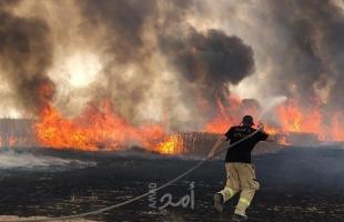 بالأرقام.. حرائق البلدات الإسرائيلية المحاذية لغزة: (1136) خلال 15 شهراً بفعل البالونات الحارقة