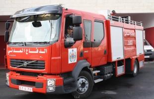 الدفاع المدني: طواقمنا تعاملت مع 49 حادث حريق وإنقاذ بالضفة