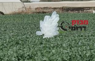 إعلام عبري: سقوط بالونات مففخة في بلدات مقابل غزة- صور