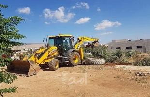 قوات الاحتلال تشن حملة هدم لمنشآت زراعية في خربة حمصة بالأغوار الشمالية