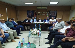 محافظو غزة لاتحاد المقاولين: ندعم مطالبكم العادلة وسنحملها للرئيس والحكومة
