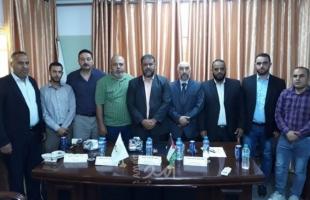 مراسم استلام وتسليم المجلس البلدي الجديد لبلدية المغراقة وسط القطاع