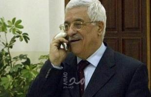 """الرئيس عباس يتلقى اتصالاً هاتفياً من وزير الخارجية الجزائري """"الابراهيمي"""""""