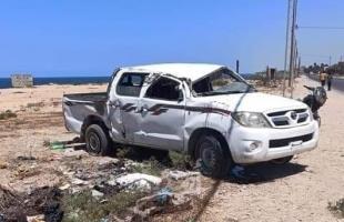 بالأسماء.. حالتا وفاة و(6) إصابات في حادث سير وسط قطاع غزة