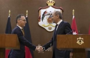 الأردن وألمانيا تشددان علي حل القضية الفلسطينية وفق القانون الدولي