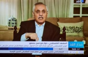 فيديو - لقاء خاص مع الوزير الفلسطيني السابق حسن عصفور