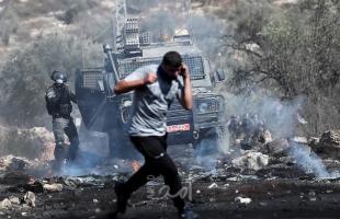إصابات بالمطاط والاختناق واقتحامات خلال مواجهات مع جيش الاحتلال في مختلف مدن الضفة