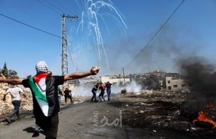 إصابات بالمطاط والاختناق خلال مواجهات مع جيش الاحتلال في مختلف مدن الضفة