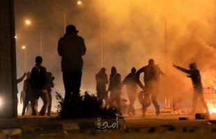 اندلاع مواجهات مع قوات الاحتلال شمال مدينة البيرة