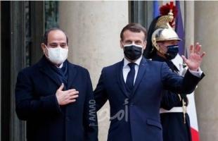 ماكرون: بيع الأسلحة الفرنسية لمصر غير مشروط.. والسيسي يؤكد ضروة التعاون والعمل المشترك