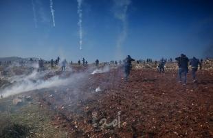 """إصابات بـ """"المطاط"""" والاختناق خلال مواجهات مع قوات الاحتلال بالضفة الغربية"""