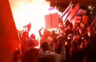 """اعتقالات خلال مظاهرة إسرائيلية أمام منزل """"نتنياهو"""" بالقدس- فيديو"""