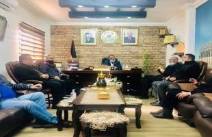 جبهة النضال تلتقي مدير الضابطة الجمركية بطولكرم