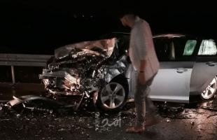 إصابات بينها خطيرة في حادث سير مروع غرب نابلس