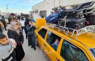 """بدء مغادرة حافلات المسافرين عبر """"معبر رفح"""" جنوب قطاع غزة"""