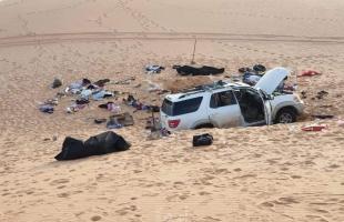 مصرع عائلة سودانية جوعا وعطشا بعد تعطل سياراتهم بالصحراء الليبية - صور