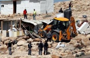 قوات الاحتلال تخطر بهدم غرفة زراعية في بيت لحم