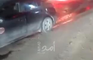 """نابلس: إصابة بحادث سير في شارع """"فرعون"""""""