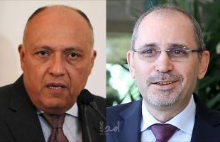 شكري: لدينا رؤية مشتركة مع الأردن بشأن تحقيق السلام  والصفدي يؤكد لا حل دون إنهاء الاحتلال