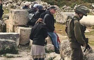 قوات الاحتلال تُغلق الموقع الأثري في سبسطية أمام المواطنين