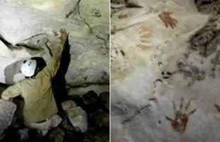 اكتشاف آثار أيدي أطفال عمرها 1200 عام على جدار كهف