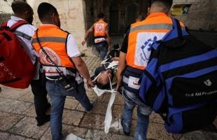 الهلال الأحمر: 305 إصابة خلال مواجهات الأقصى بينها حالات خطيرة