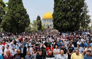 """45 ألف مصلٍّ يؤدون صلاة الجمعة في المسجد """"الأقصى"""""""
