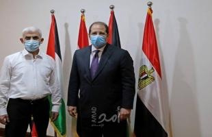 """وصول رئيس المخابرات المصرية """"عباس كامل"""" برفقة وزراء فلسطينيين إلى غزة- صور"""