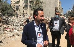 """وصول المدير العام للجنة الدولية للصليب الأحمر """"مارديني"""" إلى غزة- صور"""