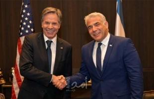"""تفاصيل الاتصال الهاتفي بين وزير الخارجية الأمريكي """"بلينكن"""" ونظيره الإسرائيلي """"لابيد"""""""