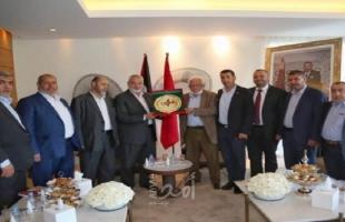 هنية يستقبل عددًا من الفعاليات المغربية الداعمة لفلسطين