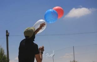 اطلاق بالونات حارقة من غزة تجاه البلدات الإسرائيلية