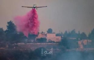 إخلاء منازل في قرى عند أطراف القدس بسبب حريق ضخم.. وبينت يجري إجتماع