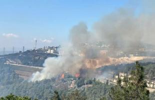 السيطرة على حريق اندلع في جبال القدس- فيديو
