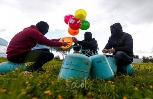 اطلاق دفعة بالونات حارقة من غزة تجاه البلدات الإسرائيلية