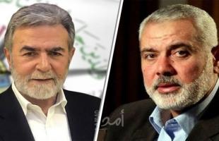 النخالة يستقبل وفدًا من حماس مهنئًا بذكرى الانطلاقة الجهادية