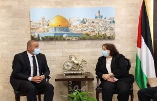 الكيلة تستقبل نقيب المحامين الفلسطينيين لمناقشة العديد من القضايا