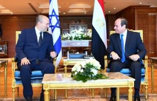 السيسي يؤكد لـ بينيت أهمية تحقيق السلام عبر حل الدولتين وضرورة الحفاظ على التهدئة