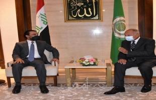 """ابو الغيط يؤكد لـ""""رئيس مجلس النواب العراقي""""دعم الجامعة العربية للعملية الانتخابية القادمة"""