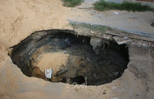 """أبو ظريفة لـ""""أمد"""": انهياراتأرضية تُهدد حياة آلاف المواطنين شرق خانيونس"""